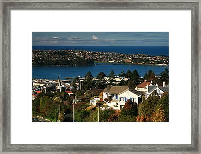 Dunedin Nz View To Andy Bay Framed Print