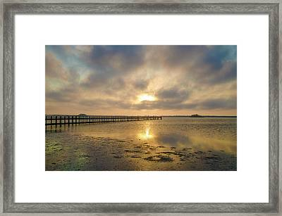 Dunedin Sunset - Obscured By Clouds Framed Print by Bill Cannon