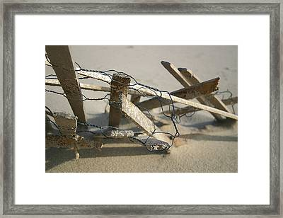 Dunefence Framed Print by Mary Haber