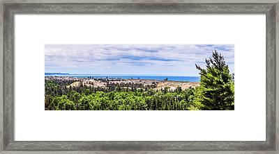 Dunes Along Lake Michigan Framed Print