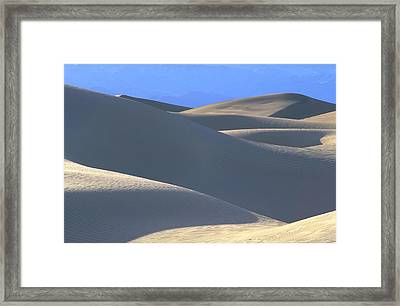 Dunes And Blue Mountains Framed Print