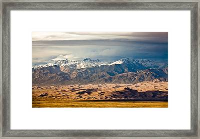 Dunes And Sangre De Christos Framed Print by Adam Pender