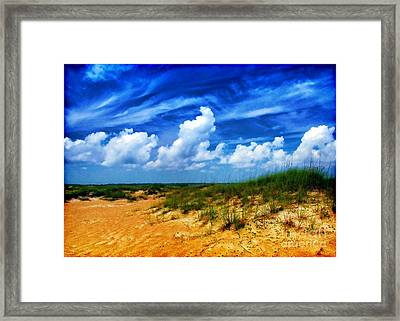 Dunes At Bald Head Island Framed Print