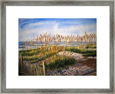 Dunes At Dawn Framed Print