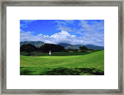 Dunes At Maui Lani Scenery Framed Print