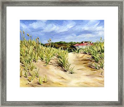 Dunes At Seabrook Framed Print by Cheryl Pass