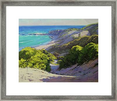 Dunes At Slodiers Beach Framed Print