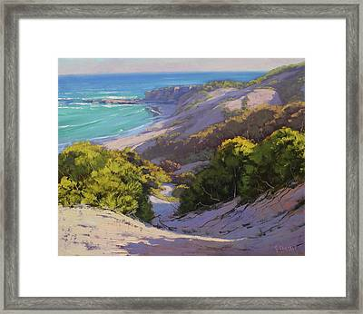 Dunes At Soldiers Beach Framed Print