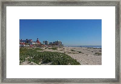 Dunes At The Del Framed Print by Mark Barclay