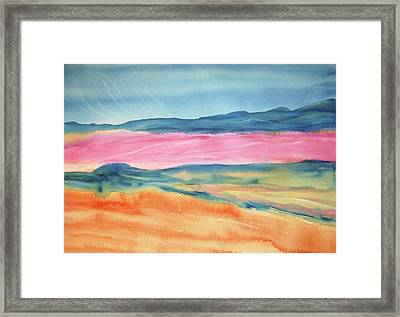Framed Print featuring the painting Dunes by Ellen Levinson