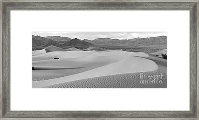 Dunes In The Valley Black And White Framed Print by Adam Jewell