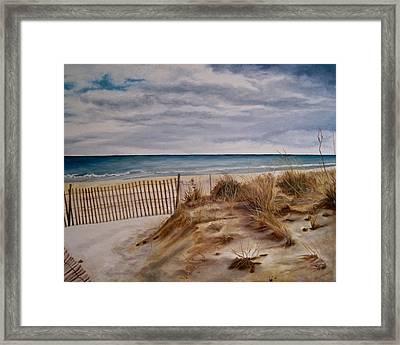 Dunes Framed Print by Janice Petrella-Walsh