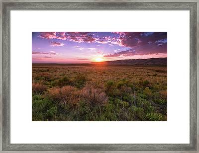 Dunes Last Night Framed Print
