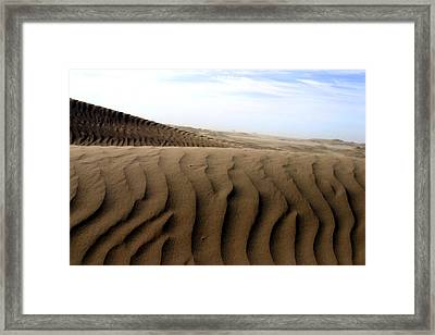 Dunes Of Alaska Framed Print