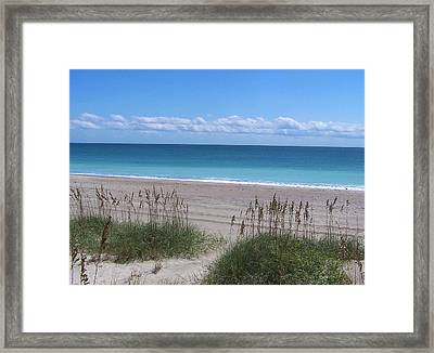 Framed Print featuring the photograph Dunes On The Outerbanks by Sandi OReilly