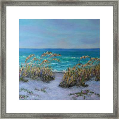 Dunes Path Ocean Painting Part 1 Framed Print