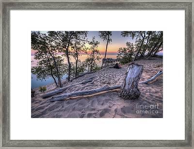 Dunes Sunset Framed Print