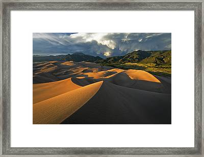 Dunescape Monsoon Framed Print