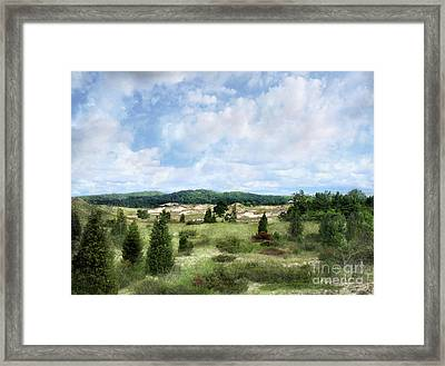 Framed Print featuring the photograph Dunescape Preserved Forever by Kathi Mirto