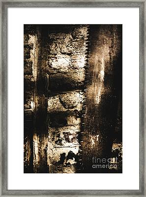 Dungeon Saw  Framed Print