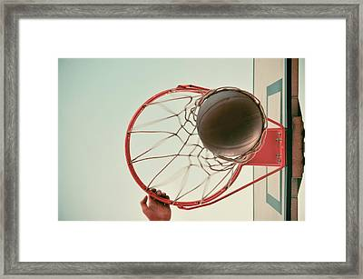 Dunk Framed Print by Ondrej Supitar