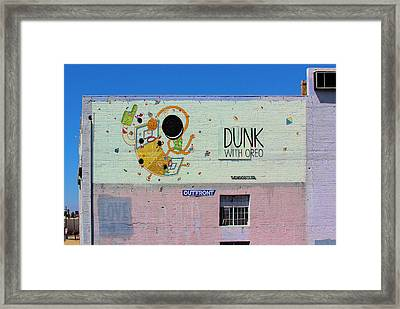 Dunk With Oreo Framed Print by Viktor Savchenko