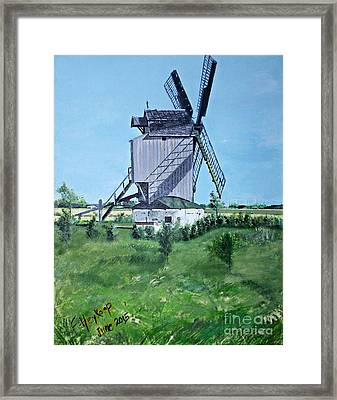 Dunkerque Windmill North Of France Framed Print by Francine Heykoop