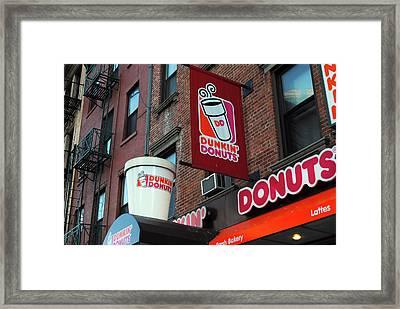 Dunkin' Donuts Framed Print by Agnes Czekman