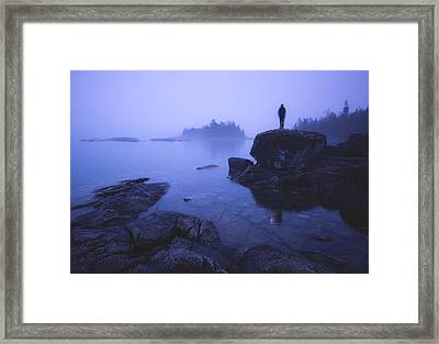 Dunks Point At Sunrise Framed Print by Cale Best