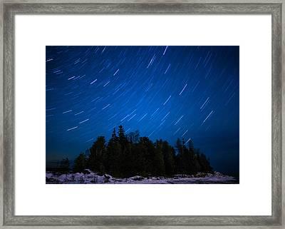 Dunks Point Star Trail Framed Print