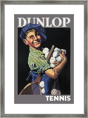 Dunlop Tennis Ball Boy  C. 1920 Framed Print by Daniel Hagerman