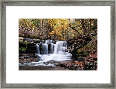 Framed Print featuring the photograph Dunloup Falls - D009961 by Daniel Dempster
