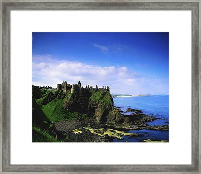 Dunluce Castle, Co Antrim, Irish, 13th Framed Print