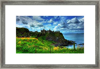 Dunluce Castle Framed Print by Kim Shatwell-Irishphotographer