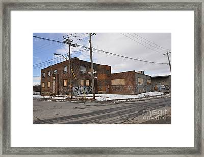Dunn And Pitt Street Urban Exploration Framed Print by Reb Frost