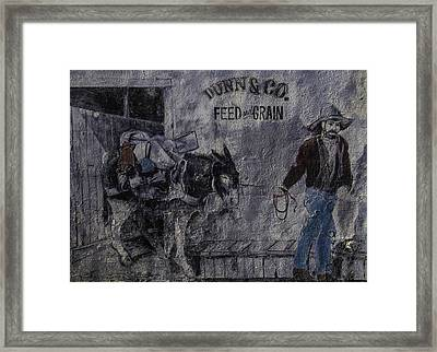 Dunn Co Feed And Grain Framed Print