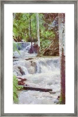 Dunn River Falls Framed Print by Jeff Kolker
