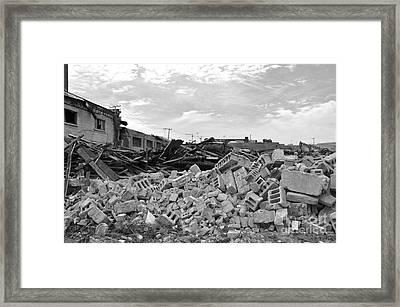 Dunn Street Demolition 2 Framed Print by Reb Frost