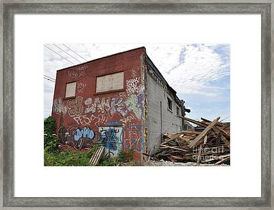 Dunn Street Finale Framed Print by Reb Frost