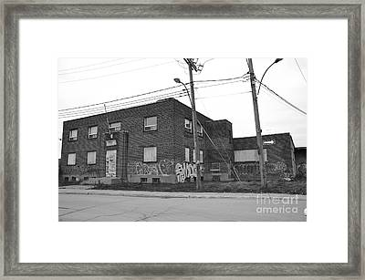 Dunn Street Montreal Framed Print by Reb Frost
