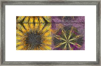 Dunno Trance Flowers  Id 16165-012222-33130 Framed Print