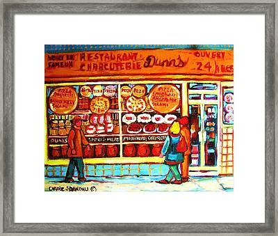 Dunn's Treats And Sweets Framed Print by Carole Spandau