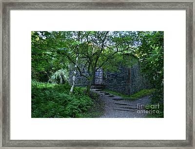 Dunstaffnage Chapel Nestled In The Woods Framed Print by DejaVu Designs