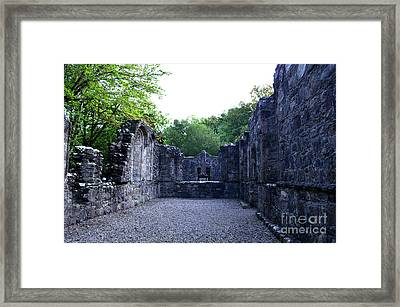 Dunstaffnage Chapel Ruins At Dunstaffnage Castle Framed Print by DejaVu Designs