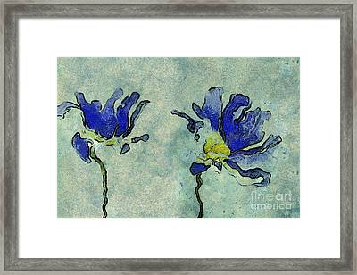 Duo Daisies - 02dp3b22 Framed Print by Variance Collections