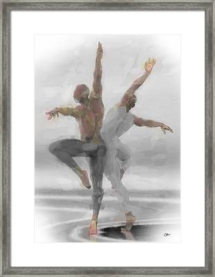 Duo De Bailarines Framed Print