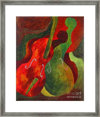Duo Fiddles Framed Print