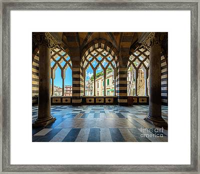 Duomo Di Amalfi Framed Print by Inge Johnsson