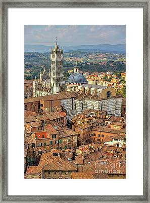 Framed Print featuring the photograph Duomo Di Siena by Spencer Baugh