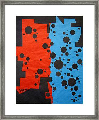 Duplicity Framed Print by Teddy Campagna